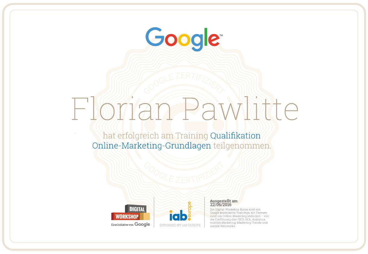 20160622 FP Google Zertifikat